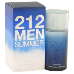 212 Summer By Carolina Herrera Eau De Toilette Spray (Limited Edition) 3.4 Oz For Men #525886