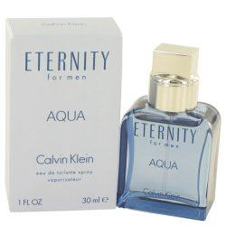 Eternity Aqua By Calvin Klein Eau De Toilette Spray 1 Oz For Men #489383