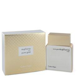 Euphoria Pure Gold By Calvin Klein Eau De Parfum Spray 3.4 Oz For Men #544208