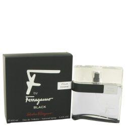 F Black By Salvatore Ferragamo Eau De Toilette Spray 3.4 Oz For Men #463917