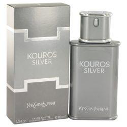 Kouros Silver By Yves Saint Laurent Eau De Toilette Spray 3.4 Oz For Men #518486