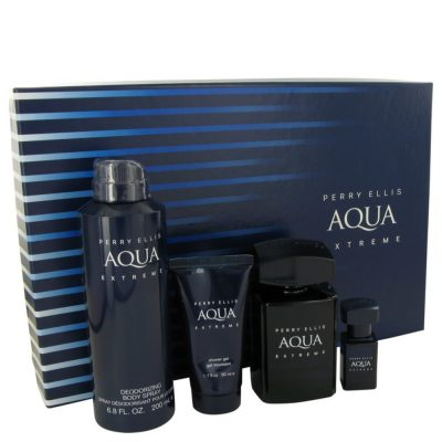 Perry Ellis Aqua Extreme By Perry Ellis Gift Set -- For Men #539831