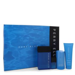 Perry Ellis Pure Blue By Perry Ellis Gift Set -- For Men #546471