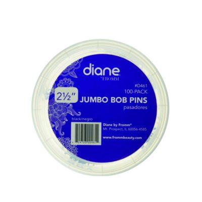 2 For $3 Diane 461 Jumbo Bob Pin 100Pk Bk