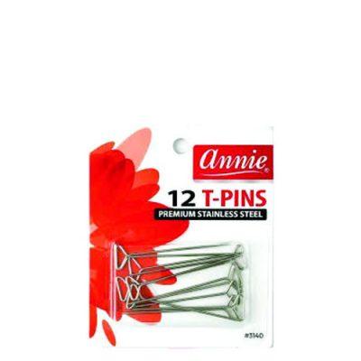 Annie 3140 Wig T-Pins 12/Pk