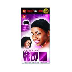 Bt Spandex Mesh Dome Wig Cap Blk 2230