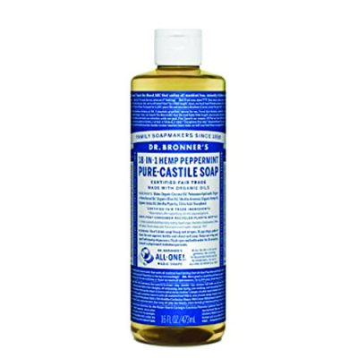 Dr Bron Liquid Soap Peppermint 32 Oz